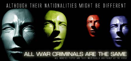 Although their nationalities might be different – all war criminals are the same.