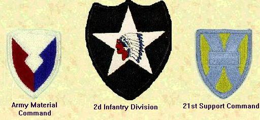 AMC, 2nd Infantry Div and 21st Support Command