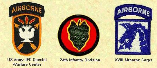 USA JFK Special Warfare Center, 24th Mech Inf. and XVII Abn Corps