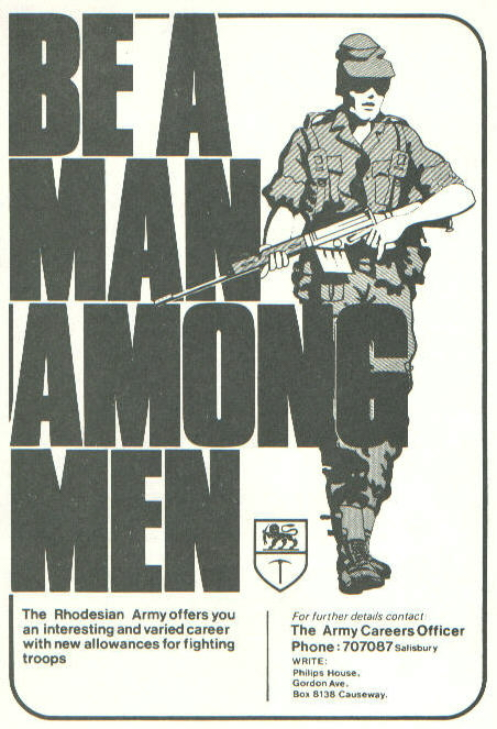 BE A MAN AMONG MEN Rhodesianarmyman